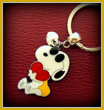 SNOOPY w/ Heart KEYCHAIN (Peanuts) Jewelry - Charlie Brown's Dog Puppy Pup