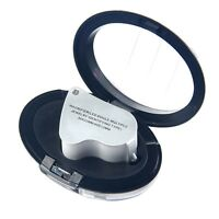 60X 30X Glass Magnifying Magnifier Jeweler Eye Jewelry Loupe Loop W/LED Light YS