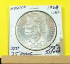 1968  MEXICO OLYMPICS !!! 25 PESOS COIN !!! 72% SILVER !!!