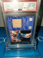 PSA8 NM~ 2002 Topps 🇺🇸 Pie Through the Years Relic#TTY-DS DARRYL STRAWBERRY 🍓