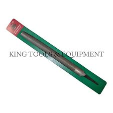 """New KING 10"""" Second Cut HALF ROUND FILE, Double Cut, Steel, Tapered End, 30 TPI"""