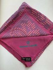 "Nazareno Gabrielli Fuschia pink Paisley Silk Scarf 33"" sq. made in Italy"