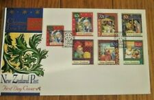 RELIGIOUS CHRISTMAS 7 STAMP COMPLETE SET 1998 FDC NEW ZEALAND