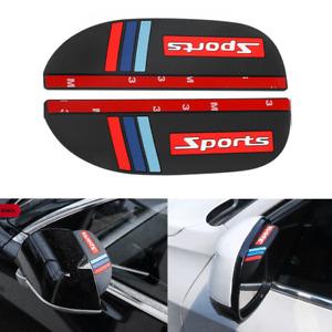 Car Side Mirror Rain Eyebrow Visor Rear 2pcs Guard Sun Black Accessories Shield