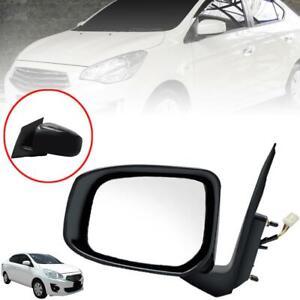 Side Mirror Left LH Black 3 Wires For Mitsubishi Mirage G4 Sedan Attrage 2013-17
