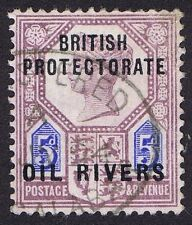 Oil Rivers 1892 5d Dull Purple and Blue SG5 Registered Oval Old Calabar