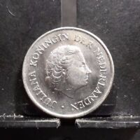 CIRCULATED 1969 25 CENTS NETHERLANDS COIN (90517)3