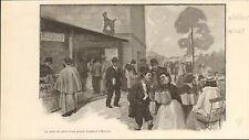 Oktoberfest Munchen Munich Bavaria Beers FRANCE GRAVURE ANTIQUE OLD PRINT 1901