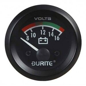 """Land Rover Series 1 2 2a 3 Dash Panel 2"""" Auxiliary Voltmeter Illuminated Gauge"""