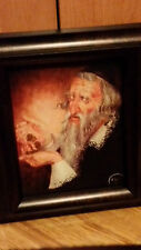PRINT ON CANVAS OF JEWISH MAN WITH COIN MONEY FOR LUCK - ZYD NA SZCZESCIE