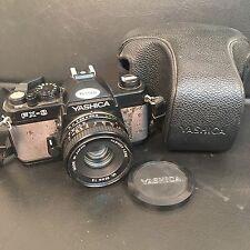 FOTOCAMERA ANALOGICA REFLEX YASHICA FX-3 obiettivo ML 50mm 1:2 FODERO originale
