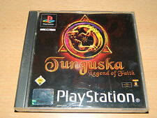 Ps1-Tunguska LEGEND OF FAITH-Manuale & CD in buono stato