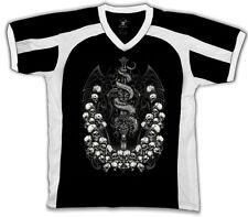 Dragon Sword Skull Reaper Crossbones Fantasy Creatures Retro Sport T-shirt