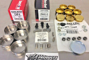 Small Block Chevy Race Cam Bearings Brass Freeze Plugs Hardware Kit Block Kit