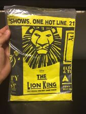 The Lion King Beauty & The Beast Elton John AIDA Broadway Promo Vinyl Poncho