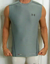 mens - Under Armour shirt - M - Fitted - Sleeveless - Fitness Athletic Gear