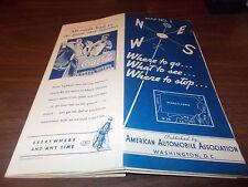 1937 Aaa Pennsylvania/New Jersey Vintage Road Map