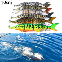 7 Segment Multi Jointed Fishing Lures Fish Bait Crankbait Hooks Swimbait 10CM UP