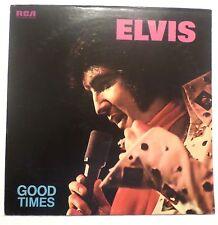 Elvis Presley . Good Times . 1974 Rca Records Lp Vg+Nm Orange Label Clp1-0475
