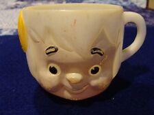 Flintstones Bam Bam Kid Soup Plastic Character Vintage Face Mug Cup