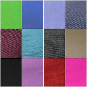 100% COTTON  EXTRA WIDE PLAIN DRILL TWILL CLOTHING CRAFT UPHOLSTERY FABRIC