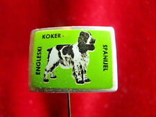 Dogs - English Cocker Spaniel - pin badge produced in ex Yugoslavia 1970s