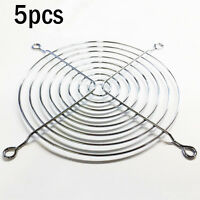 5X 120mm Chrome Metal Computer PC Silver Fan Grill Mounting Finger Protection