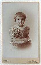 CDV PHOTO W. SEILER à KÖNIGSFELD SCHWARZWALD ALLEMAGNE ENFANT L171