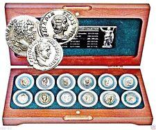 Roman Empire,12 Emperors Silver Coin Collection In Beautiful  Presentation Box