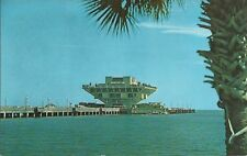 OLD VINTAGE THE PEIR WITH 5-STORY BUILDING IN ST. PETERSBURG FLORIDA POSTCARD