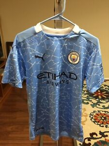 Puma Manchester City Blue Home Jersey TN20660 Men's Size M MSRP $140 NWT