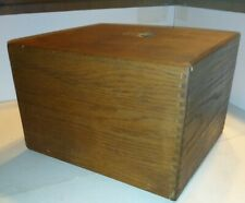 Vintage Wooden Recipe Box or Receipt Box~ Dovetailed with Divider