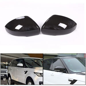 Carbon Style Rear-view Mirror Cover Cap Trim Fit For Range Rover Sport L494
