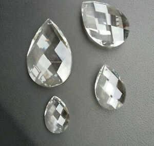 10Pcs 38/50/63/76mm Octagon Crystal Glass Prism Glass Bead Chandelier Chain Part