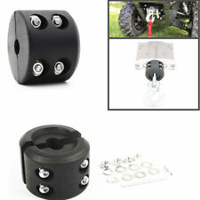 Hot ! ATV UTV Winch Cable Roller Hook Stop Stopper Rubber Cushion Rubber Black