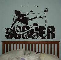 Wall Vinyl Sticker Bedroom Soccer Football Sport Game Ball Kids Nursery bo3086