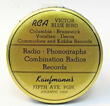 20s RCA VICTOR BLUE BIRD Pittsburgh advertising celluloid record cleaner brush *