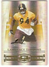 LAWRENCE TIMMONS AUTOGRAPH GOLD ROOKIE SN /100 2007 DONRUSS THREADS 220 STEELERS