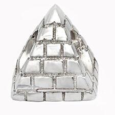 De Buman Sterling Silver Pyramid Charm Bead