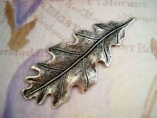 Large Oxidized Silver Plated Brass Oak Leaf Stamping (1) - SOS2987