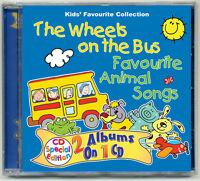 The Wheels on the Bus & Favourite Animal Songs CD nursery rhymes kids songs  NEW