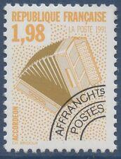 FRANCE 1992 PREOBLITERE N°214** Musique, Accordéon, TTB,  precancelled MNH