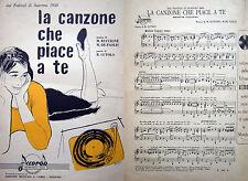 SANREMO 1958 SPARTITO GRAFICA DI CREPAX
