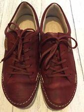 Ecco Womens Shoes Size 4 Uk 37eu Burgundy Leather Original Vgc