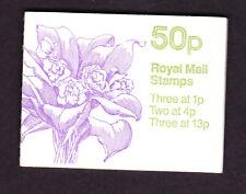 Great Britain 50p booklet Orchids No 3 reasonable perfs, Fb29 fine,