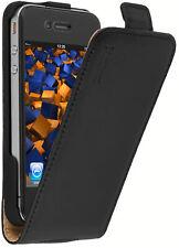 mumbi Flip Case für Apple iPhone  4 / 4s Ledertasche Tasche Hülle schwarz