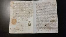 """Documento antico """"In nomine Domini Amen"""" anno 1700"""