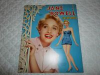 VINTAGE ORIGINAL 1953 JANE POWELL PAPER DOLL BOOK~ UNCUT