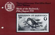 GUERNSEY PRESENTATION PACK MNH 1978 BIRDS OF THE BAILIWICK