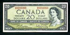 Canada (P80b) 20 Dollars 1954 aVF